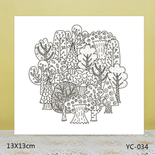 AZSG tree Clear Stamps/Silicone Transparent Seals for DIY scrapbooking Card Making 13*13cm