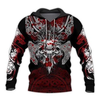 PLstar Cosmos Viking Warrior Tattoo 3D Printed Shirts casual Print Hoodies/Sweatshirt/Zipper Man Women satan Tattoo-40