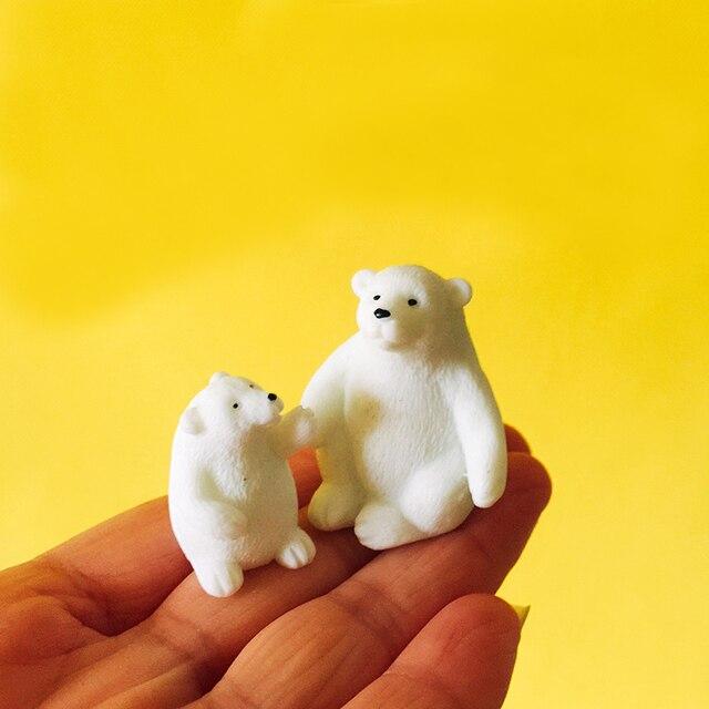 polar bear penguin/fairy garden/terrarium decor/ vintage home decor/Christmas birthday gift/miniatures animals/figurine/diy 4