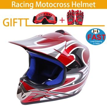 Samger Kid Helmet  Motorcycle Off Road Helmet Motocross Racing Helmet Dirt Bike  Helmet For Kid Children DOT Full Face Helmet