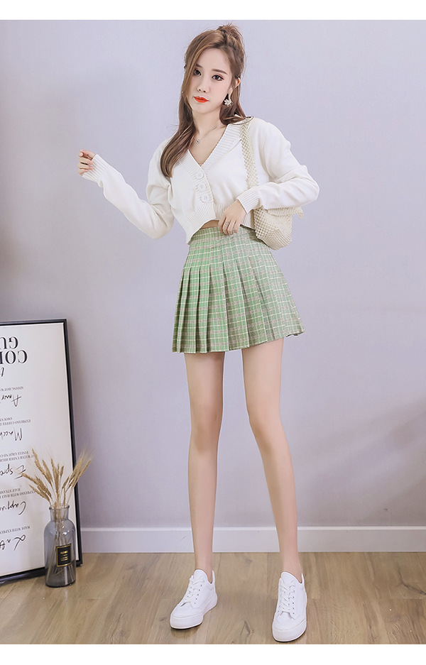 XS-3XL Women Skirt Preppy Style High Waist Chic Stitching Skirts Summer Student Pleated Skirt Women Cute Sweet Girls Dance Skirt 18