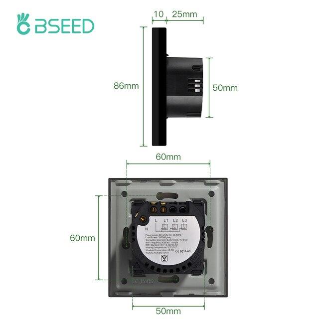 BSEED Wifi Licht Touch Schalter Smart Home für Alexa und Google Home 3