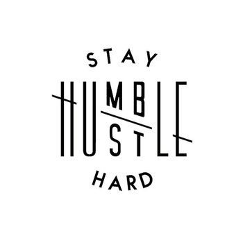 Interesting STAY HUMBLE HUSTLE HARD Kanji Car Sticker Accessories Decal Car Window Cover Scratches Waterproof PVC 13cm X 13cm image