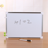 Double Side Magnetic Whiteboard Office School Dry Erase Writing Board Pen Magnets Buttons|  -