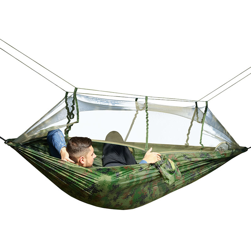Ultralight Mosquito Net Hammock With Straps And Carabiners Single Double Hammock Tent Tent Portable Camping Outdoor Gear