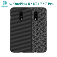 For OnePlus 7 Pro Case OnePlus 7 6 6T Cover NILLKIN Luxury Case Synthetic Fiber Carbon PP Plastic Phone Back Cover For OnePlus7|Fitted Cases| |  -
