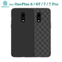 Funda de lujo para OnePlus 7 Pro, funda de lujo para OnePlus 7 6 6T, NILLKIN, funda trasera del teléfono de plástico PP de fibra sintética para One Plus7