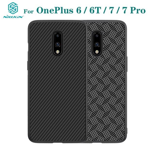 Pour OnePlus 7 Pro étui OnePlus 7 6 6T couverture NILLKIN étui de luxe fibre synthétique carbone PP plastique téléphone couverture arrière pour un Plus7