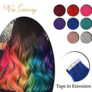 Vesunny Hair-Extensions Skin-Weft-Tape Adhesive Human-Hair Tape-In Seamless Colorful