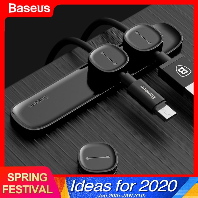 Baseus Магнитный Кабельный органайзер USB кабель управление зажим для намотки рабочего стола рабочая станция провода шнур протектор кабельный ...