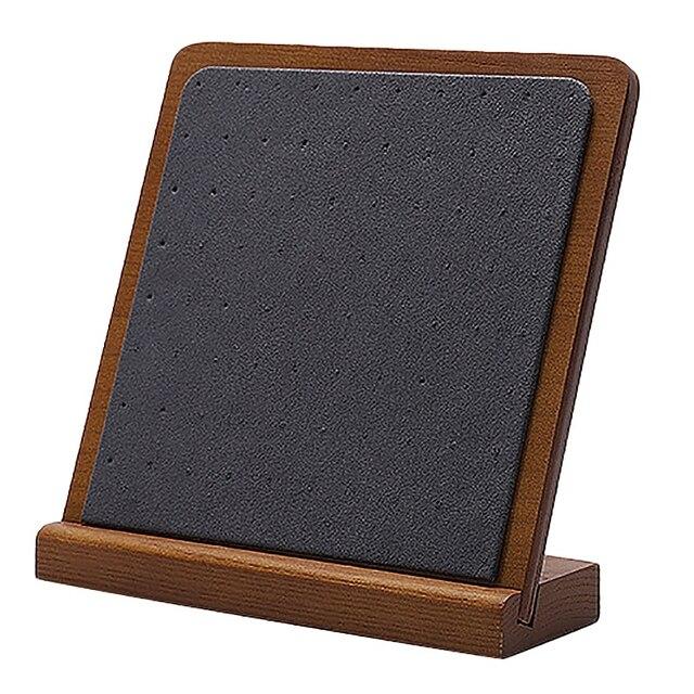 木製スタッドのイヤリングディスプレイ小道具ウィンドウジュエリーディスプレイイヤリング収納ラックディスプレイスタンド配置垂直