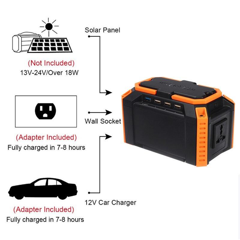40000mah Powerful Charging Solar Generator for Multi-Device Charging