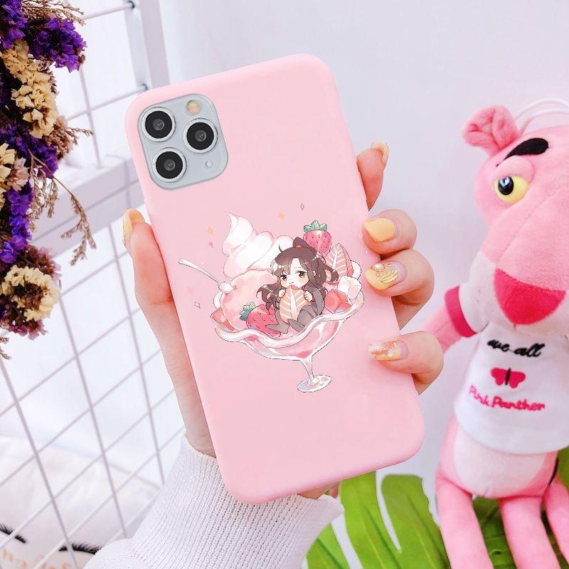 Mo Dao Zu Shi Anime Pastel Pink Funda phone Case For iPhone 11 12 Mini Pro MAX SE 6s7 8Plus Xs XR Cute LGBT Love Cover Cases