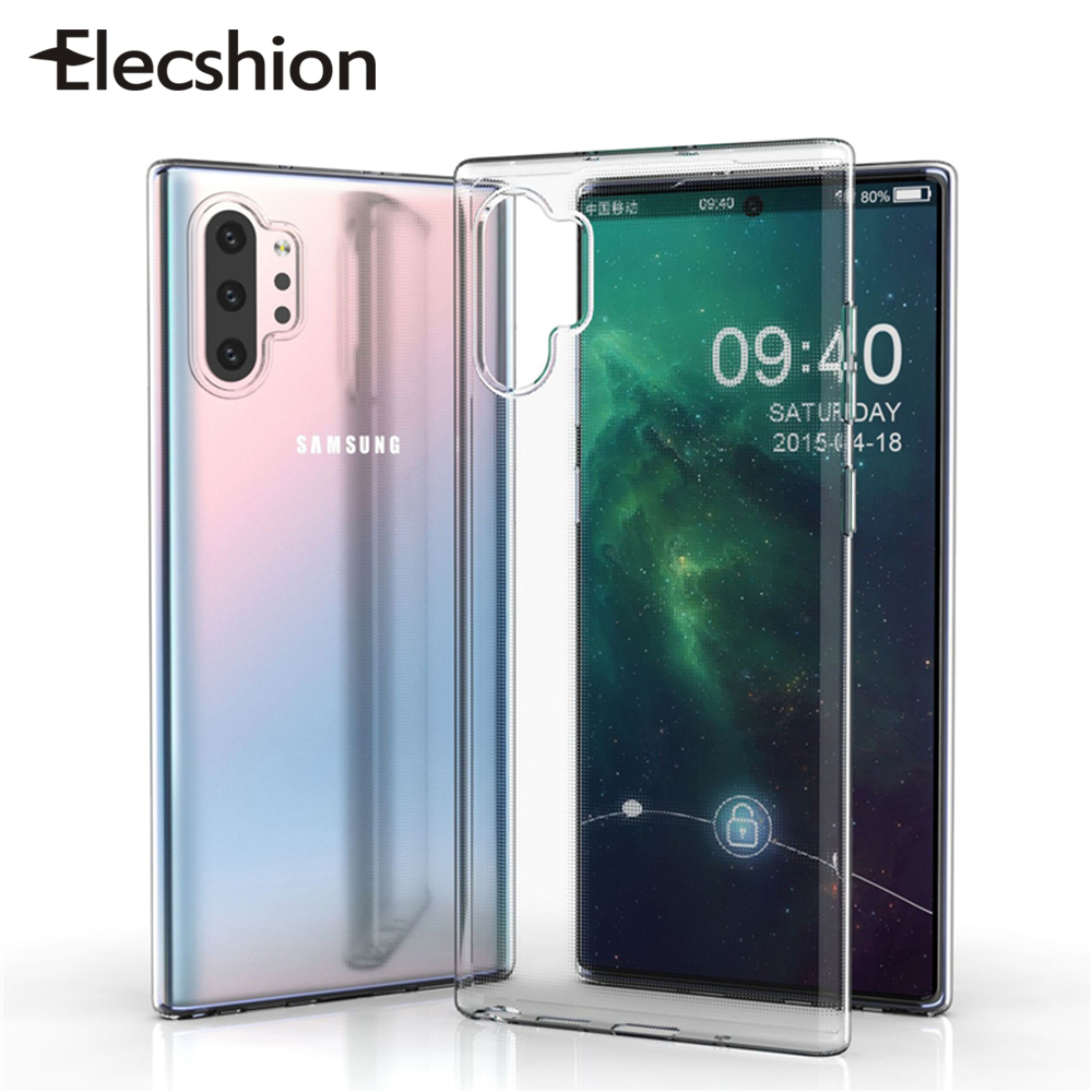 Soft TPU Clear Phone Case For Samsung Note 10 Plus Ultra Thin Silicone Back Cover For Samsung Galaxy S9 S10e Cellphone Case Capa