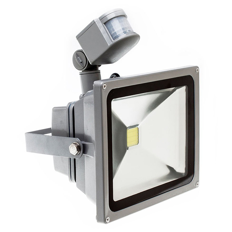 Warm White LED Spotlight Floodlight Spotlight Floodlight With LED Lighting And PIR Motion Sensor (10 Watts)