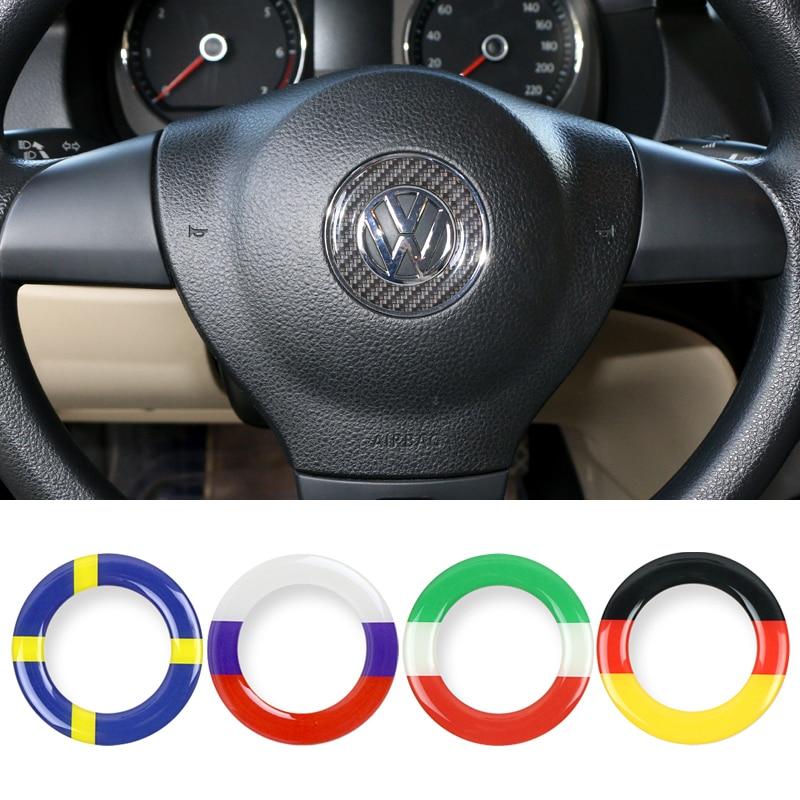 Stuurwiel Auto Sticker Duitsland Vlag Decal Embleem Voor Volkswagen Vw Polo Kever Touran Touareg Caddy