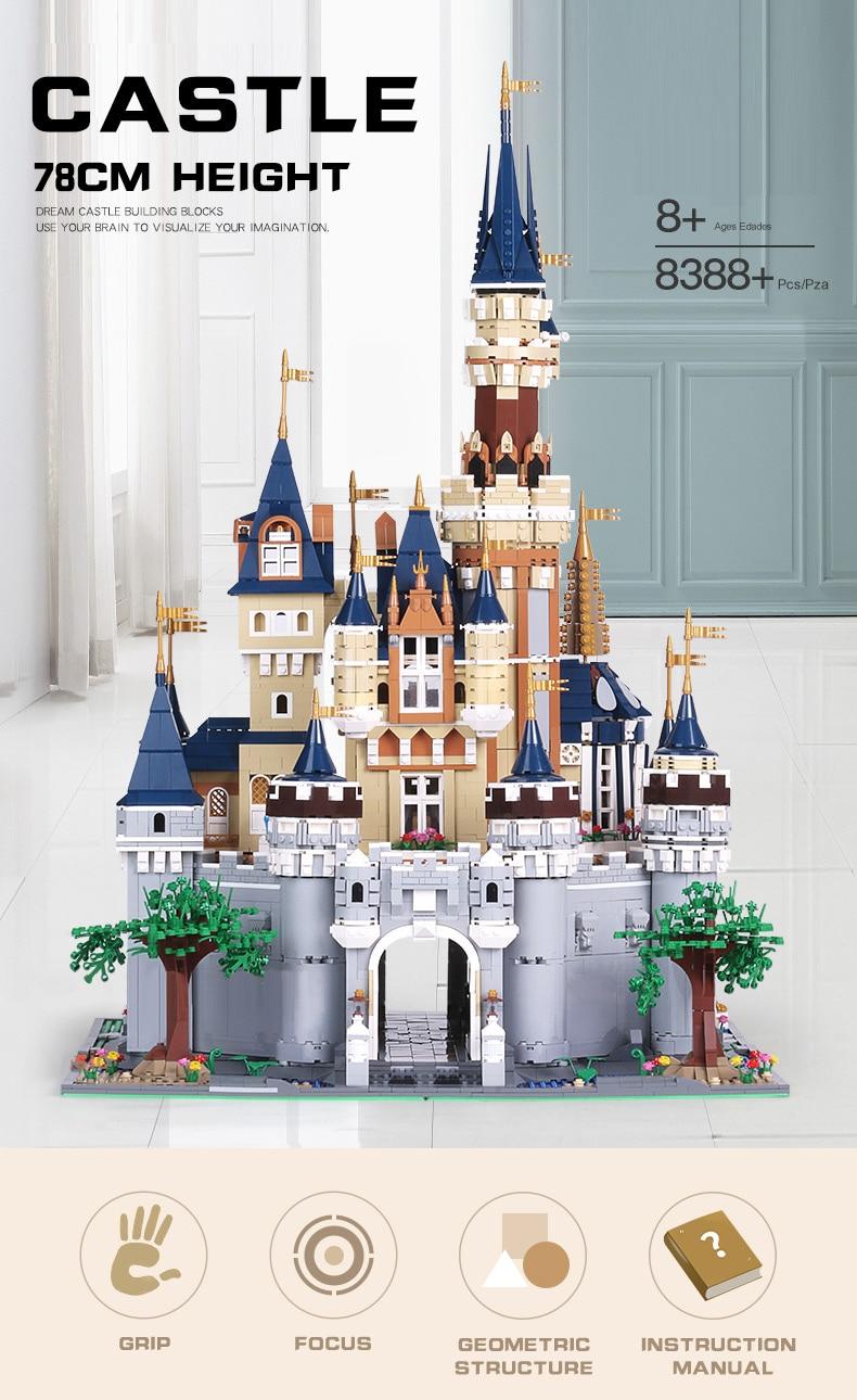 MOULD KING 13132 Disney Cinderella Castle