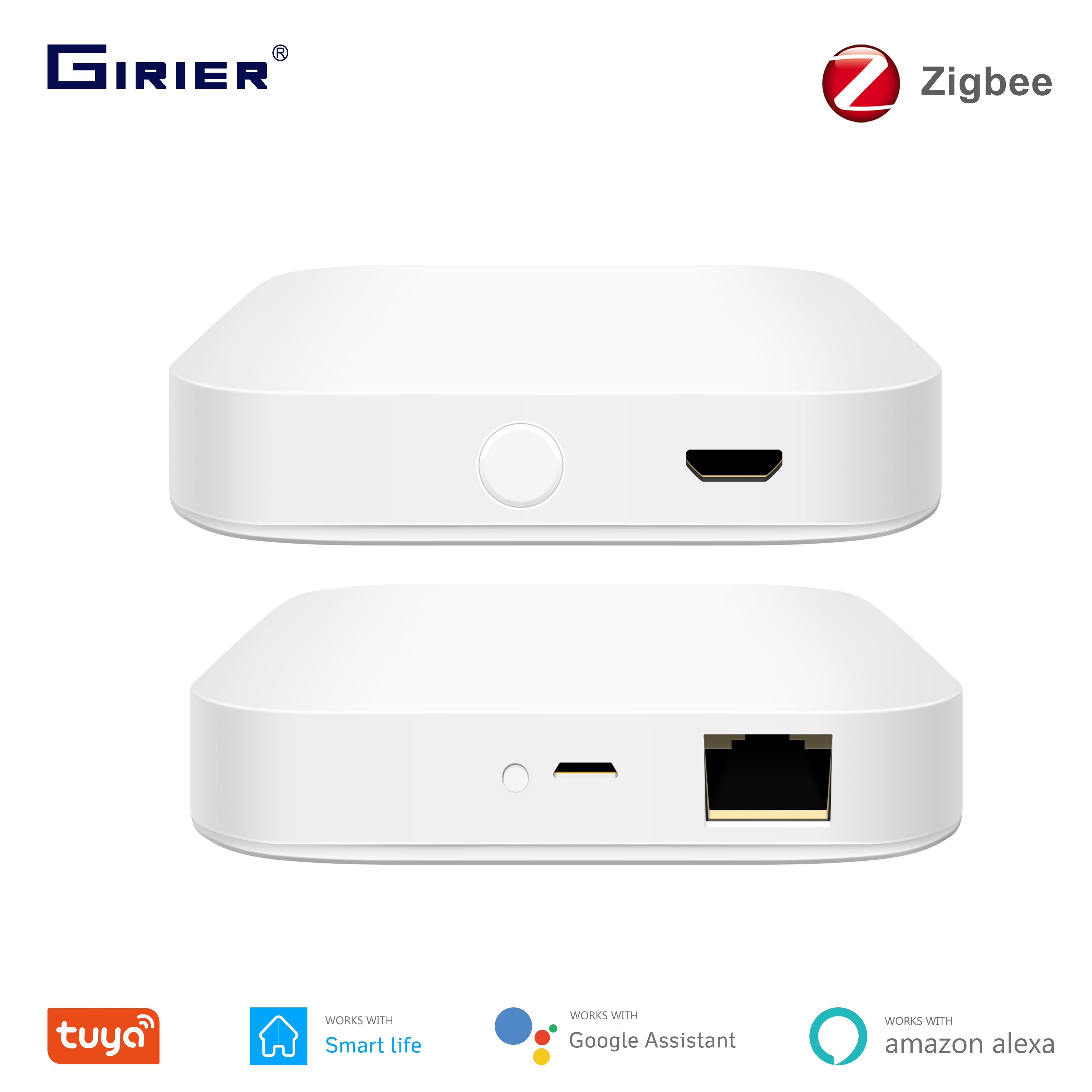Tuya ZigBee Gateway Ponte, Wired/Wireless Smart Hub, di Vita Intelligente App di Controllo A Distanza, compatibile con Alexa Google Assistente Casa