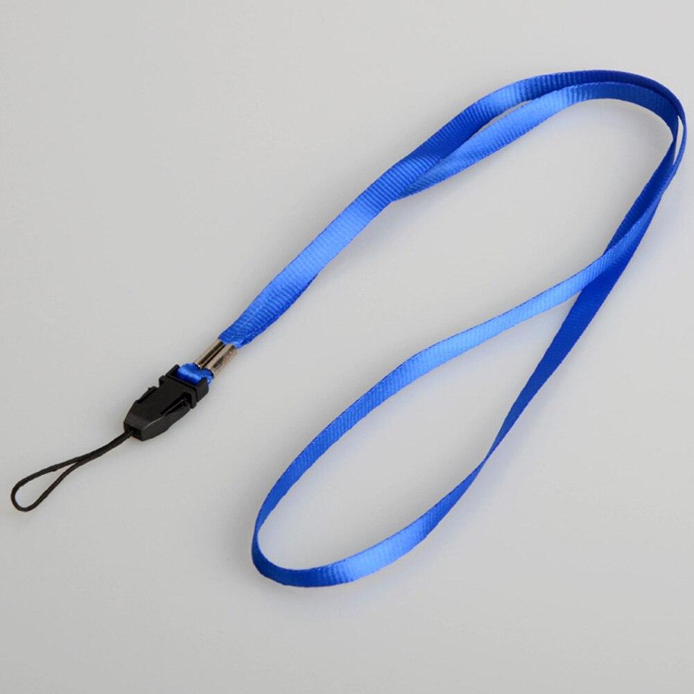 1 шт., ремешок для телефона на шею, для удостоверения личности, пропуска, значка, ключ для спортзала/держатель для мобильного телефона, USB, сделай сам, веревка, Лариат, ремешок - Цвет: Blue