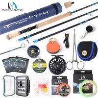 Maximumcatch 4-8wt switch vara de pesca com mosca kit completo 10-11ft moderado interruptor ação rápida haste da mosca com carretel linha combo