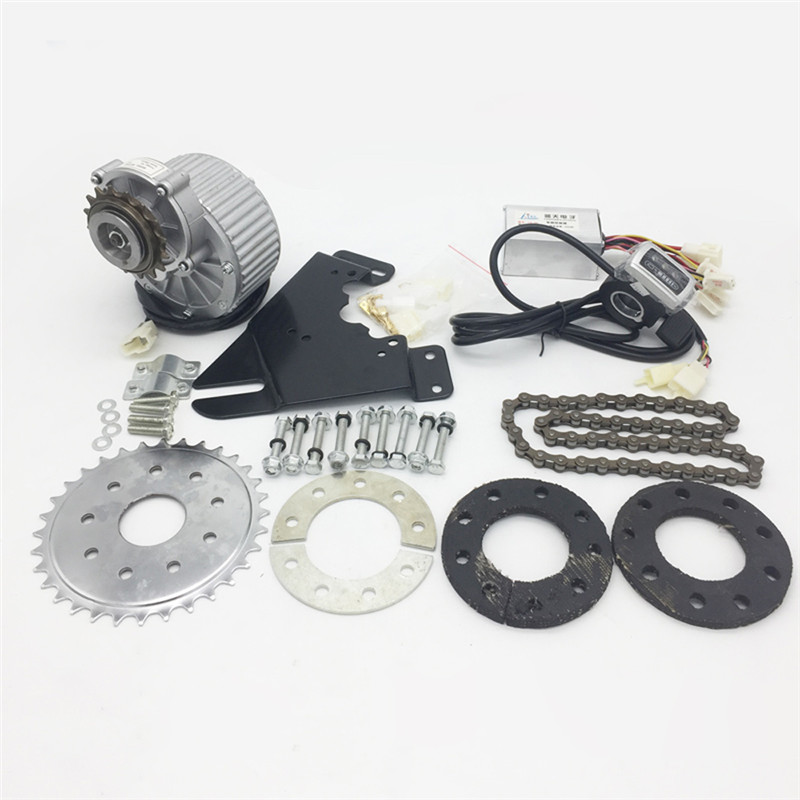 450W Newest Electric Bike Left Drive Conversion Kit Can Fit Most Of Common Bicycle Use Spoke Sprocket Chain Drive For City Bike|Conversion Kit| |  - title=