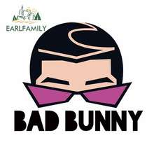EARLFAMILY 13cm x 11cm For Bad Bunny Vinyl Car Wrap Decals Bumper Car Stickers Personality Creative Sunscreen Decoration