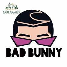EARLFAMILY – autocollants pare-choc pour voiture, 13cm x 11cm, décoration de protection solaire créative pour mauvais lapin