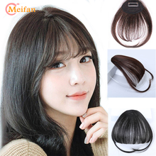MEIFAN, воздушные челки, заколка для волос, накладная бахрома, натуральные накладные волосы для женщин, термостойкие синтетические челки