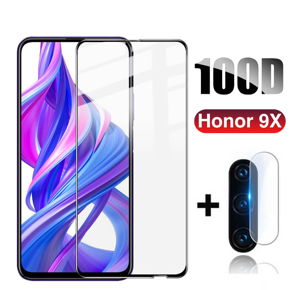 100D Protective Glass For Huawei Honor 9X Premium 3D Tempered Glass on Hono 9 X X9 Honor9x Honer 9X Safety Screen Protector Film