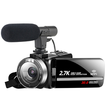2.7K 30MP Touch Screen 16X Zoomable Vlogging Night Vision With Microphone Digital Camcorder High Definition Remote Control