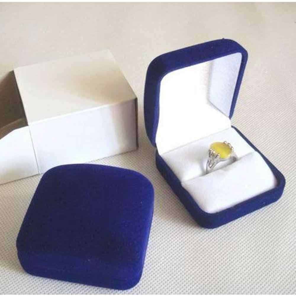 5,8*5,3*3,5 cm caja organizadora de joyería de alta calidad anillos caja de almacenamiento pequeña caja de regalo para pendientes de anillos embalaje y exhibición de Joyas