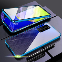 360 Full Magnetic Protective Phone Case For Huawei P40 Pro P30 P20 Mate 20 30 Pro Lite Case Metal Flip Tempered Glass Back Cover