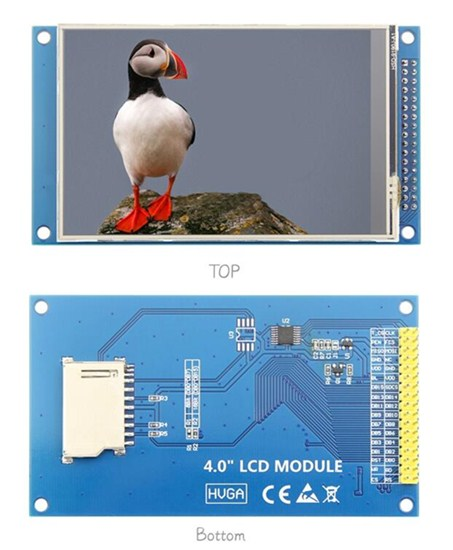 4.0 inch HD TFT LCD Screen with PCB Board ILI9488 ST7796S Drive IC 320(RGB)*480 8Bit Parallel Interface (Touch/No Touch)tft lcd screen modulelcd screen modulescreen module -