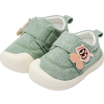 MudiPanda Baby Shoes Girls Boys 2020 Spring Autumn Non-Slip Cute Cartoon Canvas Toddler Footwear First Walkers 0-3 Years Old print baby first walkers girls toddler shoes 11cm 12cm 13cm spring autumn children footwear