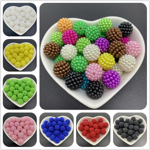 12mm 20pcs Acrylic Spaced Beads Colorful Bayberry Beads Round Loose Beads Fit Europe Beads For Jewelry Making
