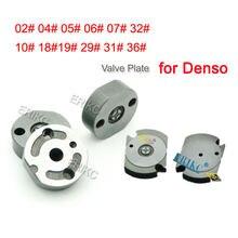 Control de placa de válvula 02 04 #05 #06 #07 #10 #18 #19 #29 # Válvula de inyector Common Rail placa de orificio 31 #32 #36 para Denso inyectores