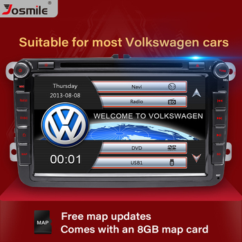 Josmile 2 Din Car DVD Player For VW Volkswagen Passat b6 b7 Skoda Octavia Superb 2 T5 Golf 5 Polo Seat leon Radio GPS Navigation car speaker adapter for vw golf iv passat polo skoda seat leon audi speaker adaptors rings 165mm 6 5 kit spacers