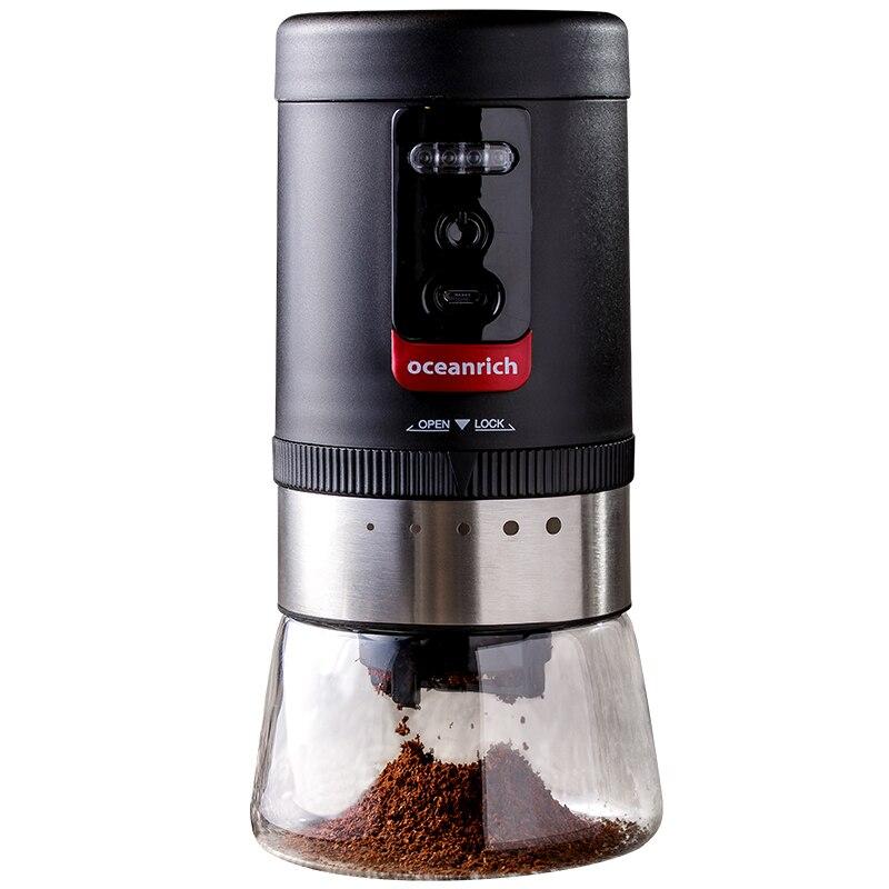 Broyeur à café électrique bavure en céramique rechargeable grosseur 20g réglable 5 réglages de mouture adaptés aux types de méthode d'infusion