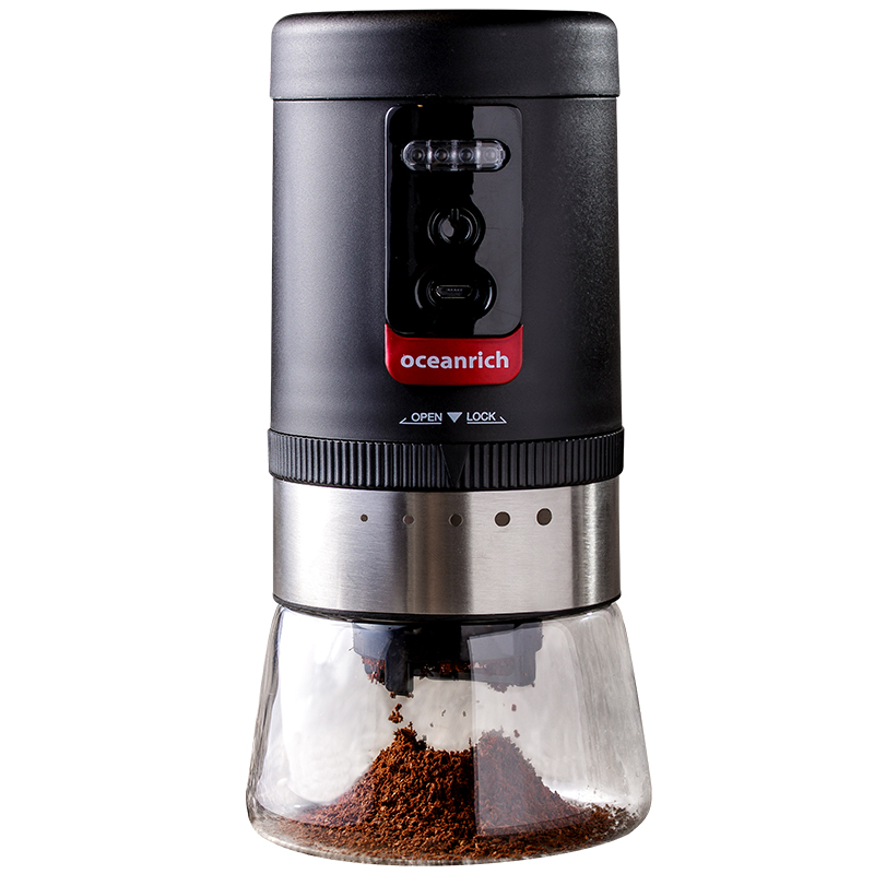 Electric Coffee Grinder Rechargeable Ceramic Burr Coarseness 20g Adjustable 5 Grind Settings Suitable For Kinds Of Brew Method