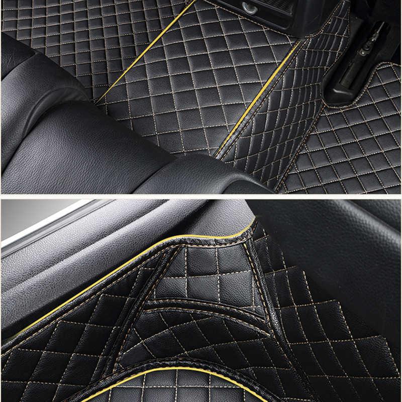 革カスタム車のフロアマットのためのメルセデスベンツ e クラス E200 E260 E300 E320 E400 W211 T211 W212 W213 、 GLK300 GLK260 X204