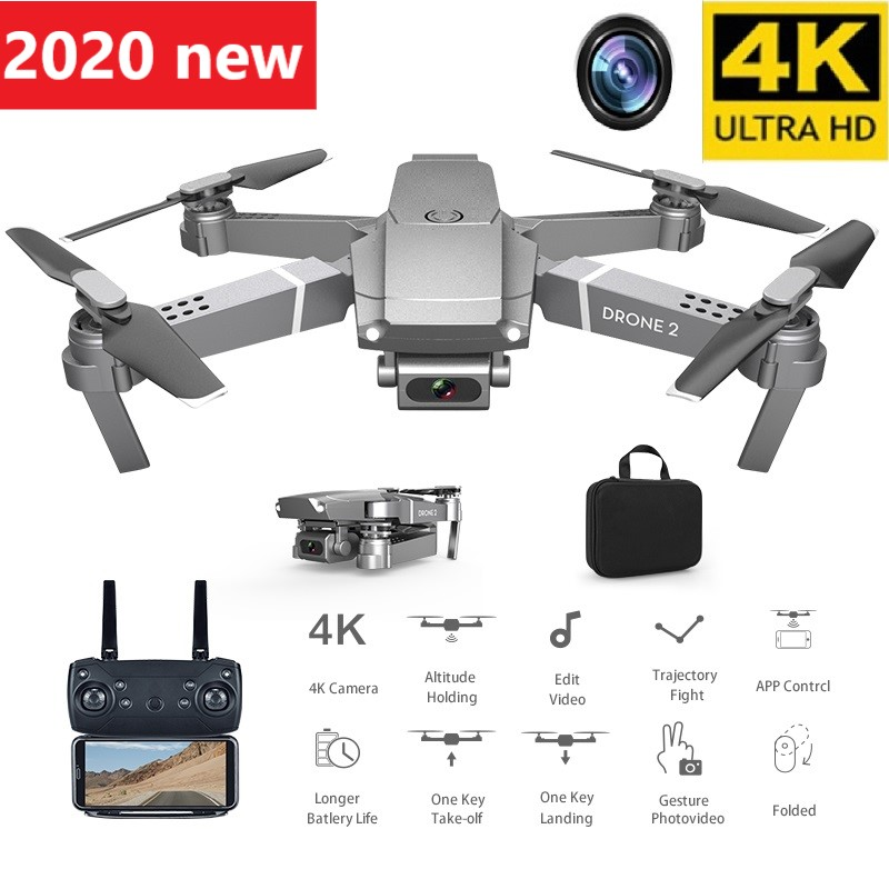 2020 New E68 WIFI FPV Mini Drone with Wide Angle HD 4K 1080P Camera Hi-Fi Mode RC Foldable Quadrotor Drone Gift Boy Toy image