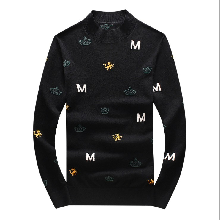 New 2019 Men Luxury Winter Hot M Letters Animals Embroidered Casual Sweaters Pullover Asian Plug Size High Quality Drake #M73
