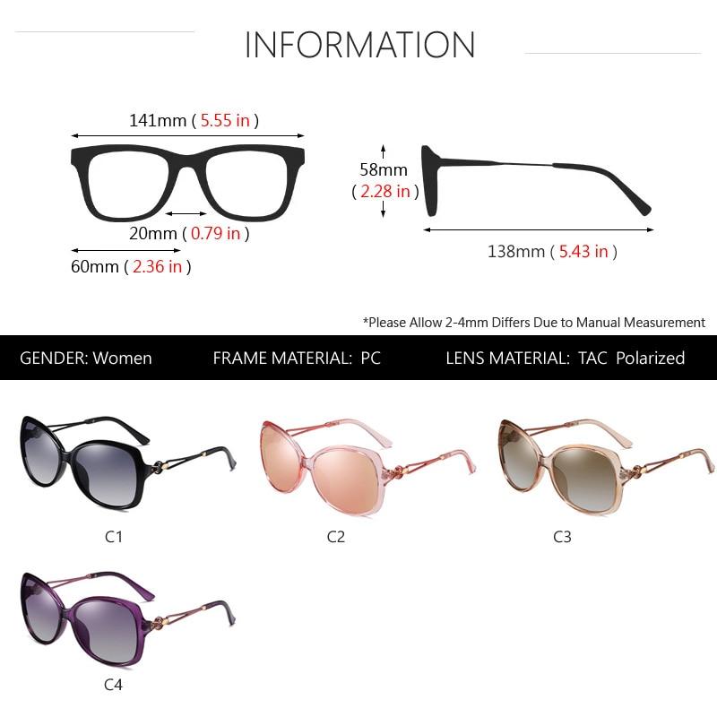 Female 2020 Lady Women Retro Gradient Shades Sun Glasses Polarized Sunglasses Oversized AOWEAR Brand Luxury For Eyewear Womens