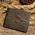 WESTAL мужской кошелек из натуральной кожи кошелек для мужчин vingate с крокодиловым узором короткий кошелек клатч сумка для денег 7001