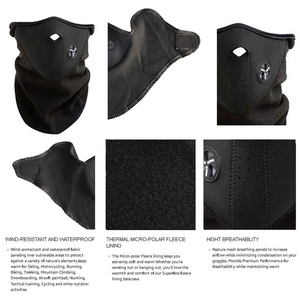 Image 4 - Motorcycle Half Face Mask Cover Fleece Unisex Ski Snow Moto Cycling Warm Winter Neck Guard Scarf Warm Protecting Maske