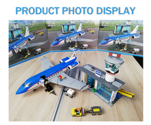 Airport Passenger Terminal Lepin City Airplane Model LepinBlocks Lnternational Station Building Blocks Kids Toys 60104