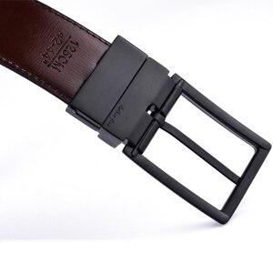 Image 3 - Mens Cintura, Reversibile Cinghie di Cuoio per Gli Uomini, Ruotato Fibbie, Vestito E Casual, classic & Disegni di Moda per Uomo