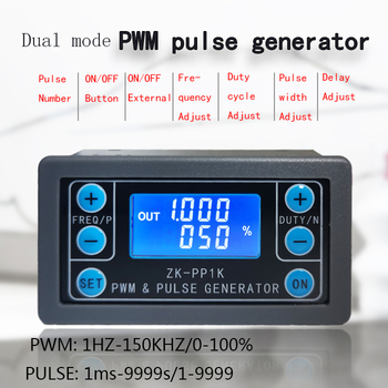 LCD Digital PWM Signal Generator pulse frequency duty cycle adjustable square wave rectangular wave signal function generator xr2206 signal function generator synthesizer dds frequency pwm pulse generator sine gerador de sinal adjustable module diy