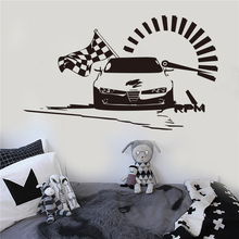 цена Retro Sport Racing Car Poster Modern Design Hot Selling Interior Home Decoration Wall Decals Roadster Sports Auto Decor W712