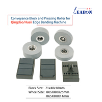 10 unids/lote bloque para cadena del transporte y prensado de transportador de bloque de almohadilla para Qingdao Huali automática máquina de bandas de borde FLK007
